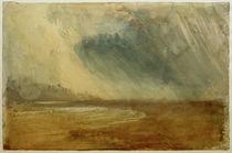 W.Turner, Regenwolken über einem Strand: möglicherweise nahe Dunstanbrough Castle von AKG  Images