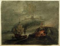 W.Turner, Schloss Llanstephan bei Mondlicht mit einem Brennofen im Vordergrund by AKG  Images