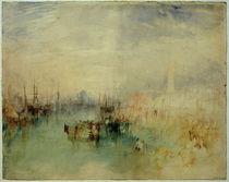 W.Turner, Venedig: Schiffsabfahrt von der Riva degli Schiavoni, nahe der Ponte dell'Arsenale by AKG  Images