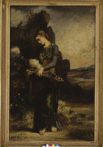Moreau / Girl carrying Orpheus' Head by AKG  Images