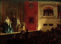 A. v. Menzel, Théâtre du Gymnase in Paris von AKG  Images