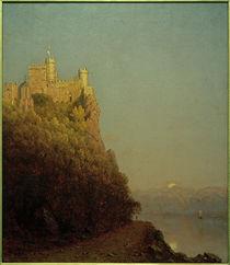Burg Rheinstein / Gemälde von Sanford Robinson Gifford by AKG  Images