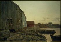 A.Nielsen, Eine Fischerhütte, Altes Hellesund von AKG  Images