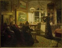 A.S.Petersen, Ein Abend mit Freunden. Bei Lampenschein by AKG  Images