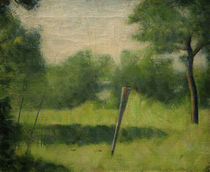 """G.Seurat, """"Landscape with a stake"""" / painting by AKG  Images"""