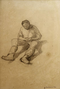 Caillebotte / Seated man / Sketch 1875 by AKG  Images