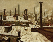 Caillebotte / Snow-covered rooftops by AKG  Images