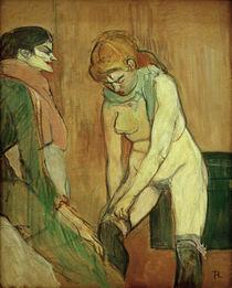Toulouse-Lautrec, Frau b. Strümpfeanziehen von AKG  Images