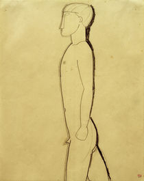 A.Modigliani, Mann im Profil von AKG  Images