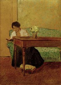 August Macke / Elisabeth on green sofa by AKG  Images