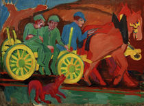 E.L.Kirchner / Horse-Drawn Cart with .... by AKG  Images