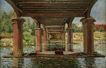 A.Sisley, Under bridge at Hampton Court by AKG  Images
