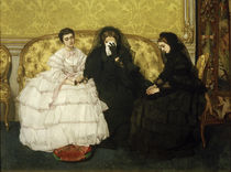 A.Stevens, Comfort or Condolence visit / Painting 1857 by AKG  Images