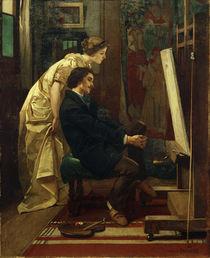 A.Stevens, Der Maler und sein Modell von AKG  Images