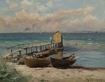 P.Mönsted, Badehäuschen am Strand von AKG  Images
