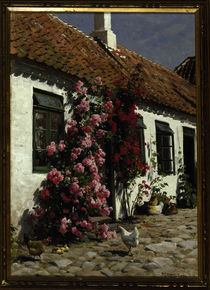 Peder Mørk Mønsted, Climbing Roses at the Farm by AKG  Images