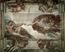 Michelangelo / Creation of Adam / 1511 by AKG  Images