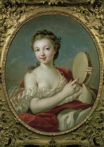 F.Boucher, Junge Frau mit Tambourin von AKG  Images