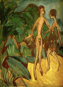 E.L.Kirchner / Nude youths on beach. by AKG  Images
