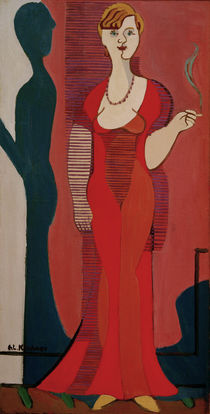 E.L.Kirchner / Blond Woman in a red Dress by AKG  Images