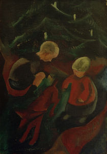 P.A.Seehaus / Two Children Under the Christmas Tree by AKG  Images