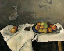 P.Cézanne / Plate with peaches. by AKG  Images