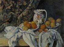 P.Cézanne, Stilleben mit Vorhang von AKG  Images
