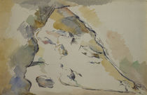 P.Cézanne / Rocks and Cave / Watercolour by AKG  Images