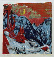 Ernst Ludwig Kirchner / Winter Moonlit Night. by AKG  Images