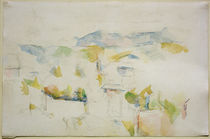 P.Cézanne, Gebirgige Landschaft bei Aix von AKG  Images