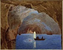Capri, Blaue Grotte  / Aquarell von J. Alt by AKG  Images