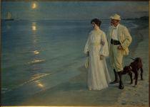 P. S. Kröyer, Sommerabend am Strand von Skagen. Der Künstler und seine Frau von AKG  Images