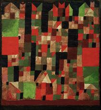 P.Klee, Städtebild (rot-grüne Accente) von AKG  Images