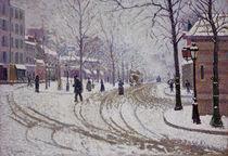 P.Signac, Schnee, der Boulevard de Clichy von AKG  Images