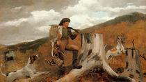 Winslow Homer, Jäger mit Hunden von AKG  Images