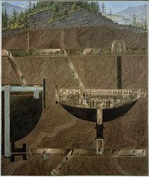 Hallein, Salzbergwerk / Aquarell von E. Gurk von AKG  Images