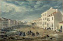 Wien, Hochwasser 1830, Jägerzeile / Aquarell von E. Gurk by AKG  Images