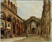 Split, Diokletianpalast / Aquarell von R. von Alt von AKG  Images
