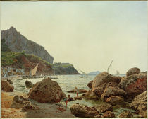 Capri, Marina Grande  / Aquarell von J. Alt by AKG  Images