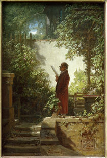 Reading the Paper in Garden / C.Spitzweg by AKG  Images