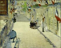 E.Manet, Rue Mosnier mit Fahnen von AKG  Images