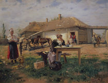 V.Makovsky, Arrival of the Teacher by AKG  Images