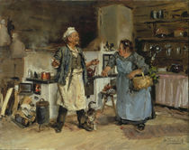 V.Y.Makovski / Discussion in Kitchen/1912 by AKG  Images