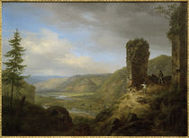 C.Morgenstern, Aussicht von der Ruine schloss Böckelheim by AKG  Images