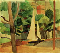A.Macke / Hilterfingen at Lake Thuner by AKG  Images