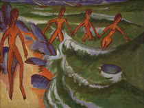 E.L.Kirchner / Bathers on a Beach by AKG  Images