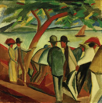 A.Macke / People Strolling along the Lake by AKG  Images