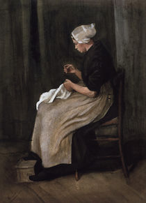 v. Gogh / Seamstress from Scheveningen/1881 by AKG  Images