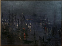 Monet / Harbour of Le Havre at night/1873 by AKG  Images
