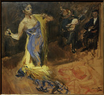 M. Slevogt, Skizze zu Marietta di Rigardo / Marietta tanzend mit zwei Musizierenden von AKG  Images